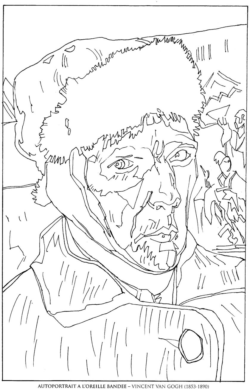 Van_Gogh Famous paintings coloring pages