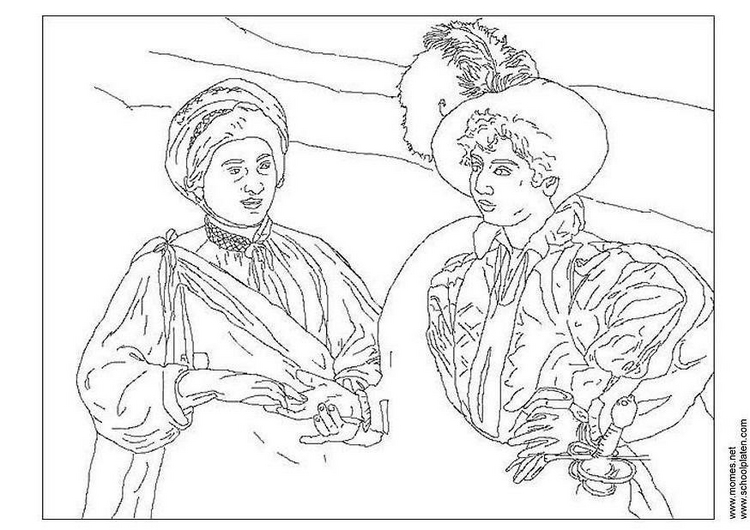 caravaggio Famous paintings coloring pages